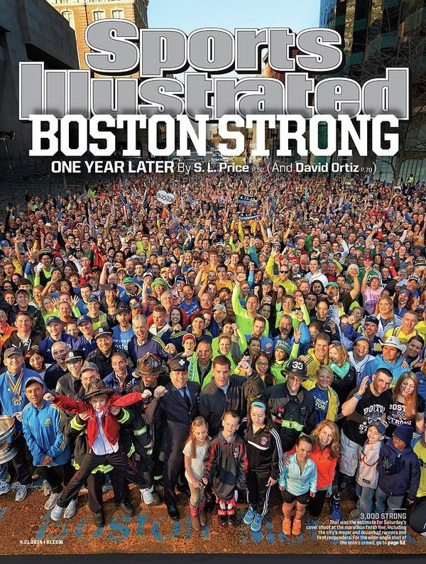 Magazine Cover Art Print featuring the photograph Boston Strong One Year Later Sports Illustrated Cover by Sports Illustrated