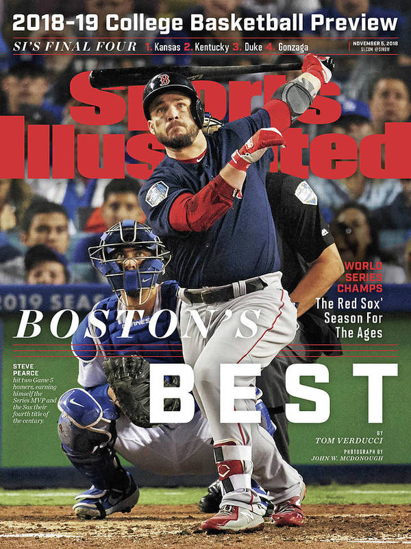 Magazine Cover Art Print featuring the photograph Bostons Best Boston Red Sox, 2018 World Series Champions Sports Illustrated Cover by Sports Illustrated