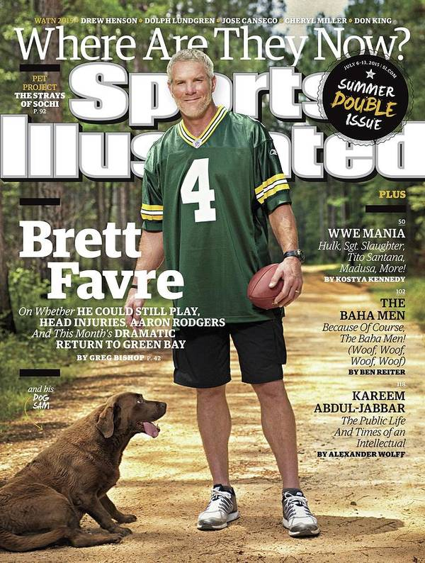 Magazine Cover Art Print featuring the photograph Brett Favre, Where Are They Now Sports Illustrated Cover by Sports Illustrated