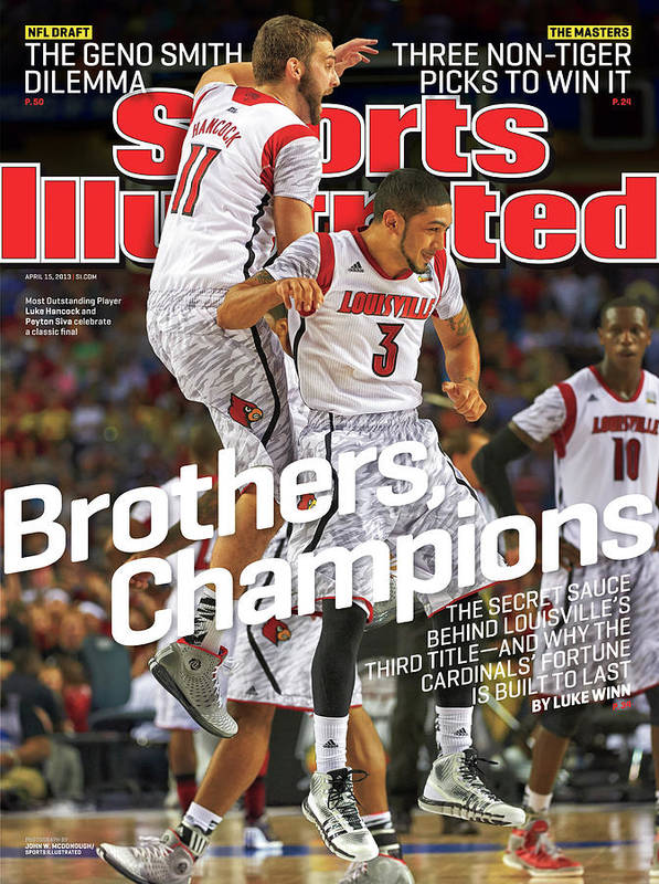 Atlanta Art Print featuring the photograph Brothers, Champions Louisville Wins National Championship Sports Illustrated Cover by Sports Illustrated
