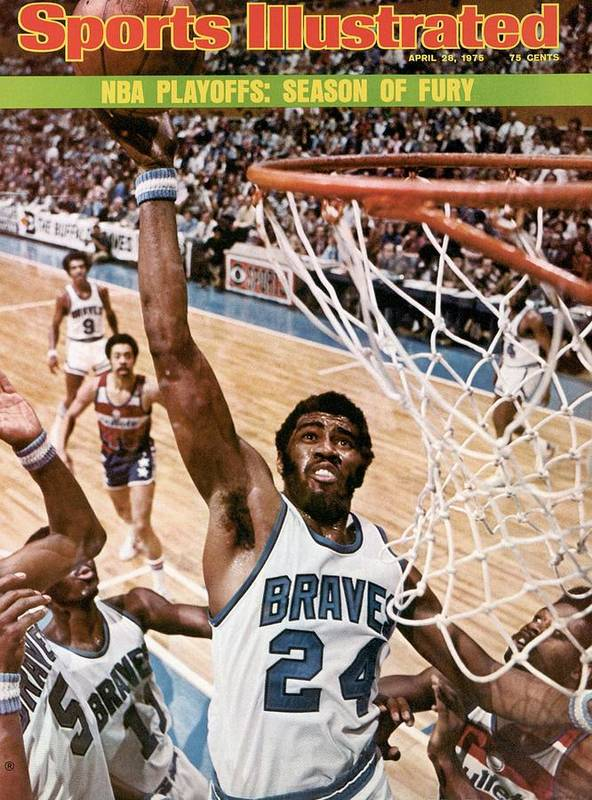 Playoffs Art Print featuring the photograph Buffalo Braves Garfield Heard, 1975 Nba Eastern Conference Sports Illustrated Cover by Sports Illustrated