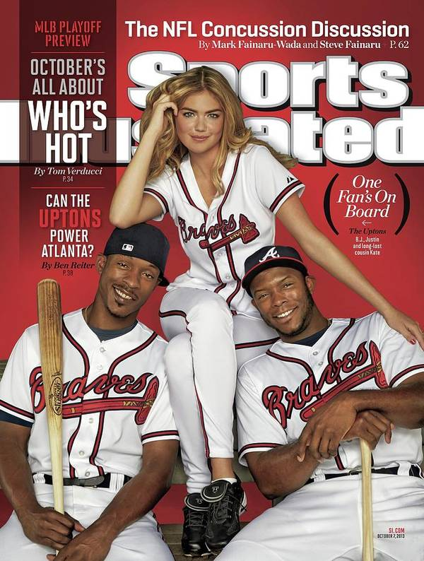 Magazine Cover Art Print featuring the photograph Can The Uptons Power Atlanta One Fans On Board 2013 Mlb Sports Illustrated Cover by Sports Illustrated
