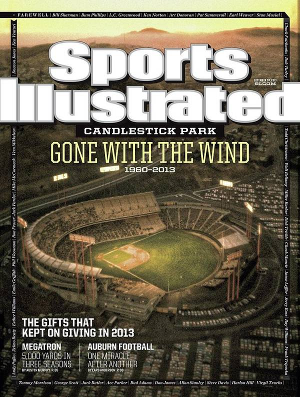 Candlestick Park Art Print featuring the photograph Candlestick Park Gone With The Wind Sports Illustrated Cover by Sports Illustrated