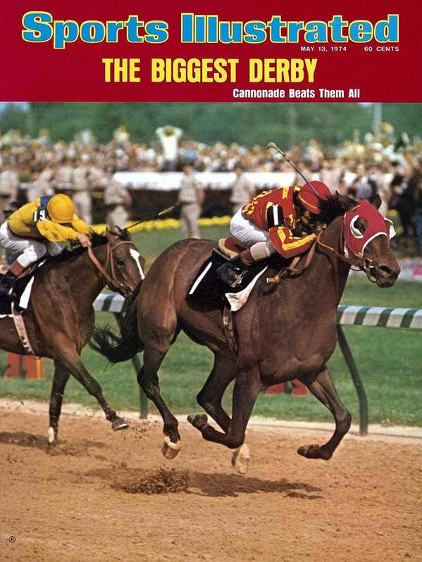 Horse Art Print featuring the photograph Cannonade, 1974 Kentucky Derby Sports Illustrated Cover by Sports Illustrated