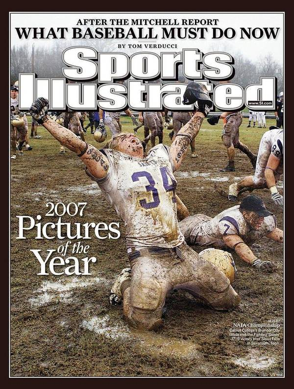 Magazine Cover Art Print featuring the photograph Carroll College Brandon Day, 2007 Naia National Football Sports Illustrated Cover by Sports Illustrated