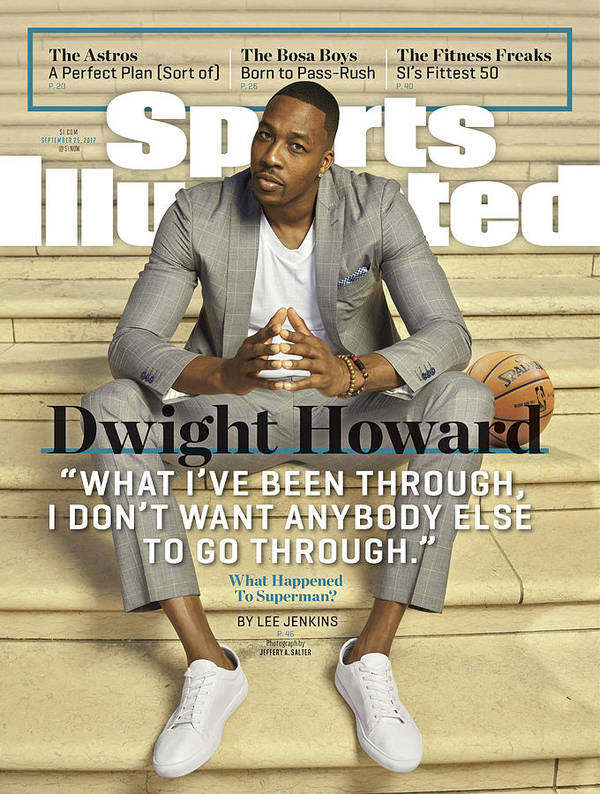 Atlanta Art Print featuring the photograph Charlotte Hornets Dwight Howard Sports Illustrated Cover by Sports Illustrated