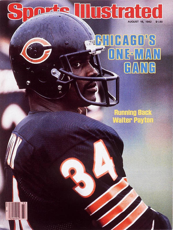 Magazine Cover Art Print featuring the photograph Chicago Bears Walter Payton Sports Illustrated Cover by Sports Illustrated