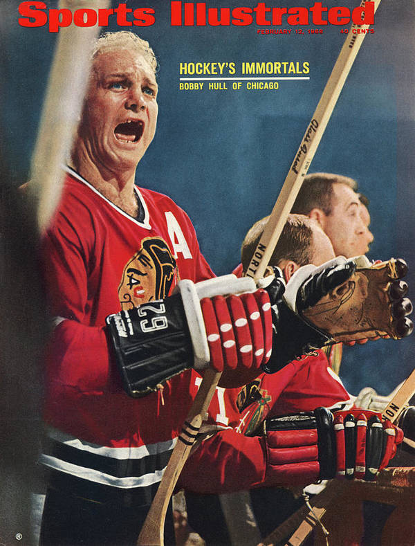 National Hockey League Art Print featuring the photograph Chicago Blackhawks Bobby Hull... Sports Illustrated Cover by Sports Illustrated