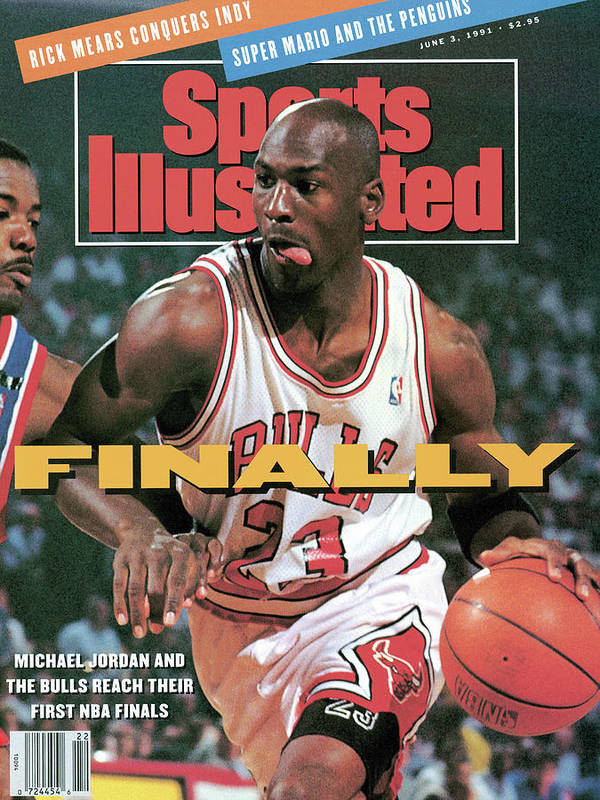 Playoffs Art Print featuring the photograph Chicago Bulls Michael Jordan, 1991 Nba Eastern Conference Sports Illustrated Cover by Sports Illustrated