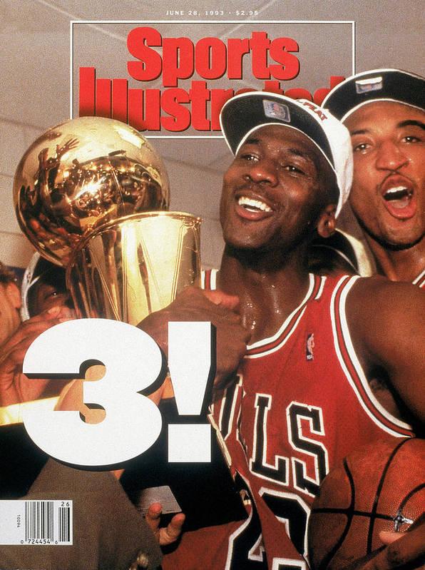 Magazine Cover Art Print featuring the photograph Chicago Bulls Michael Jordan, 1993 Nba Finals Sports Illustrated Cover by Sports Illustrated