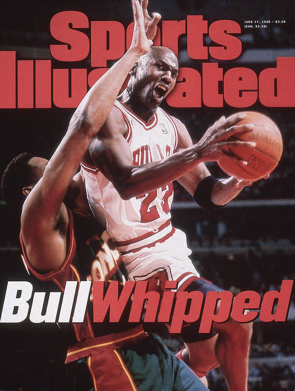 Playoffs Art Print featuring the photograph Chicago Bulls Michael Jordan, 1996 Nba Finals Sports Illustrated Cover by Sports Illustrated