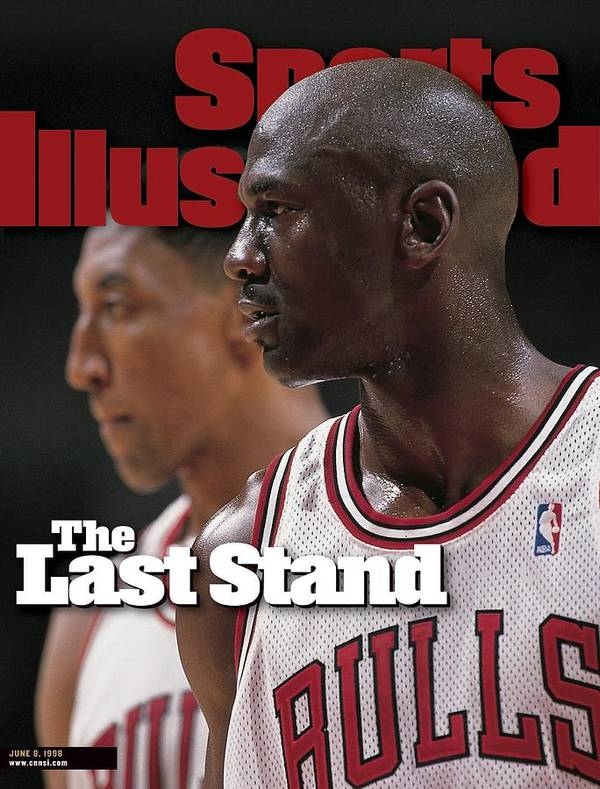 Playoffs Art Print featuring the photograph Chicago Bulls Michael Jordan And Scottie Pippen, 1998 Nba Sports Illustrated Cover by Sports Illustrated