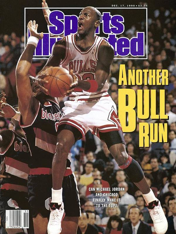 Chicago Bulls Art Print featuring the photograph Chicago Bulls Michael Jordan Sports Illustrated Cover by Sports Illustrated