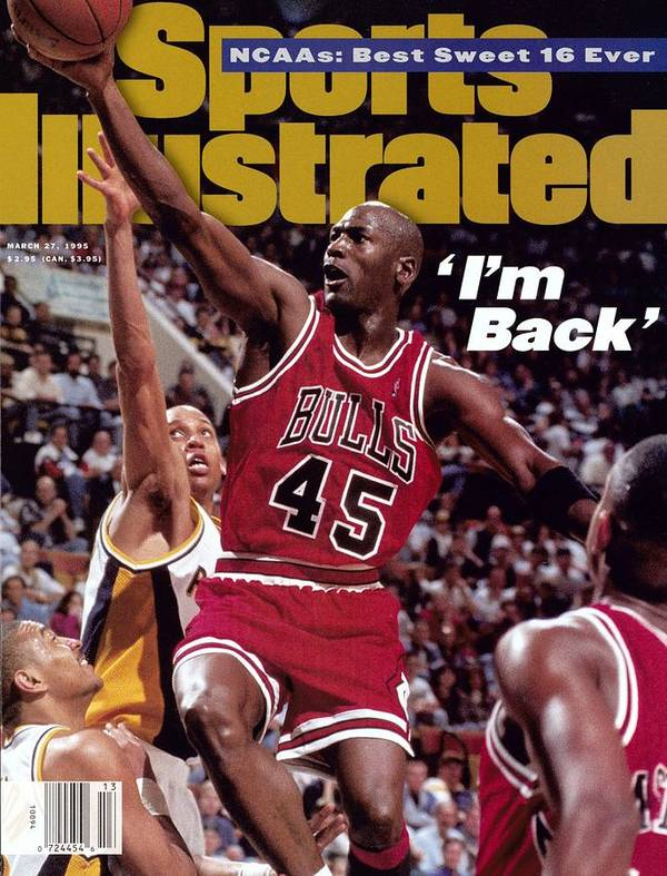 Nba Pro Basketball Art Print featuring the photograph Chicago Bulls Michael Jordan... Sports Illustrated Cover by Sports Illustrated