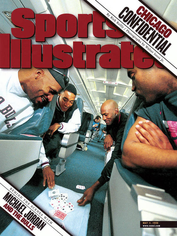 Magazine Cover Art Print featuring the photograph Chicago Confidential Behind The Scenes With Michael Jordan Sports Illustrated Cover by Sports Illustrated