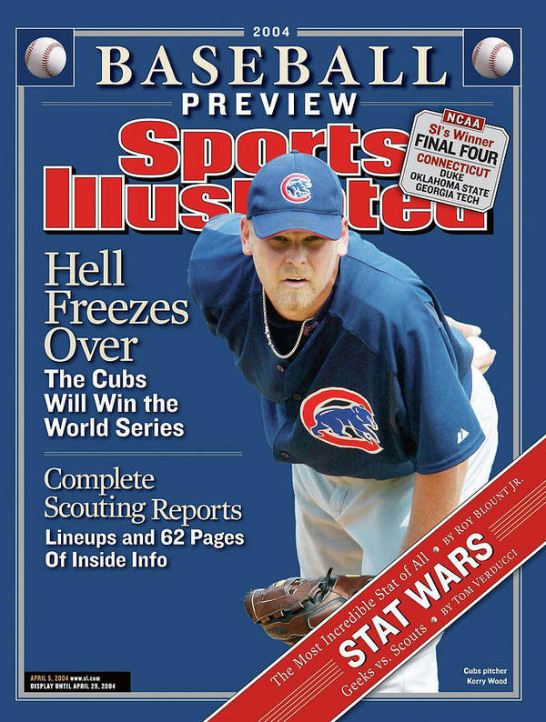 Kerry Wood Art Print featuring the photograph Chicago Cubs Kerry Wood, 2004 Mlb Baseball Preview Issue Sports Illustrated Cover by Sports Illustrated