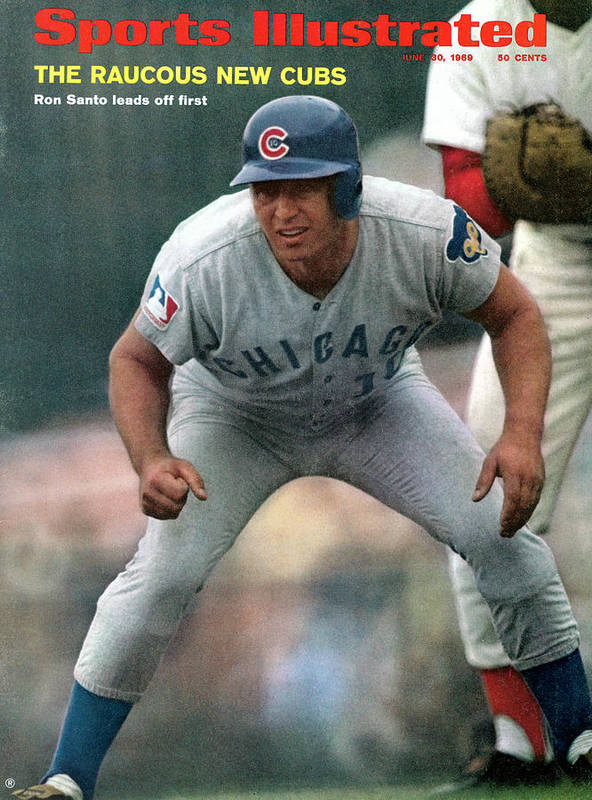 National League Baseball Art Print featuring the photograph Chicago Cubs Ron Santo... Sports Illustrated Cover by Sports Illustrated