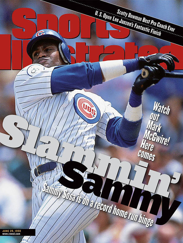Magazine Cover Art Print featuring the photograph Chicago Cubs Sammy Sosa... Sports Illustrated Cover by Sports Illustrated
