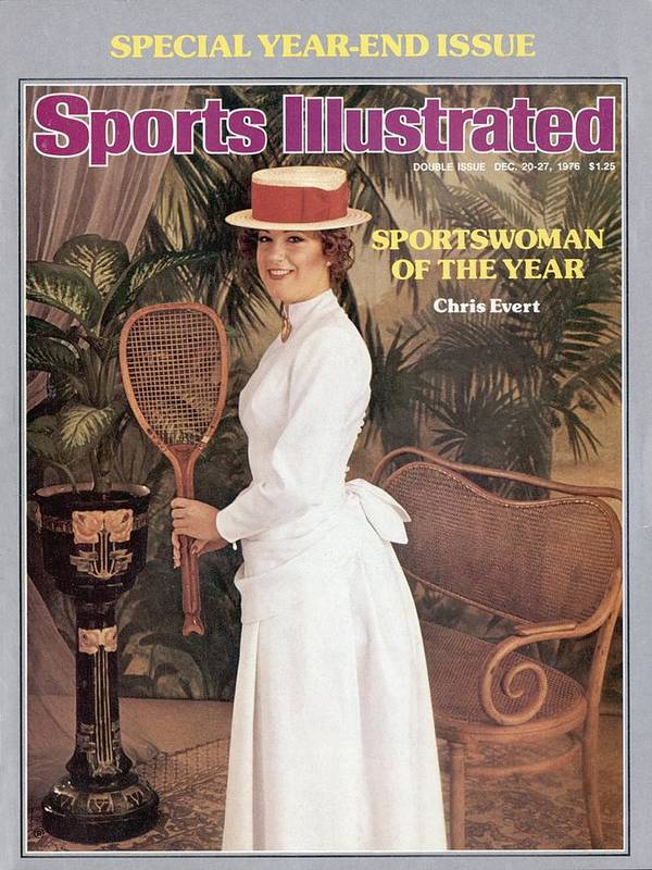 Magazine Cover Art Print featuring the photograph Chris Evert, 1976 Sportswoman Of The Year Sports Illustrated Cover by Sports Illustrated