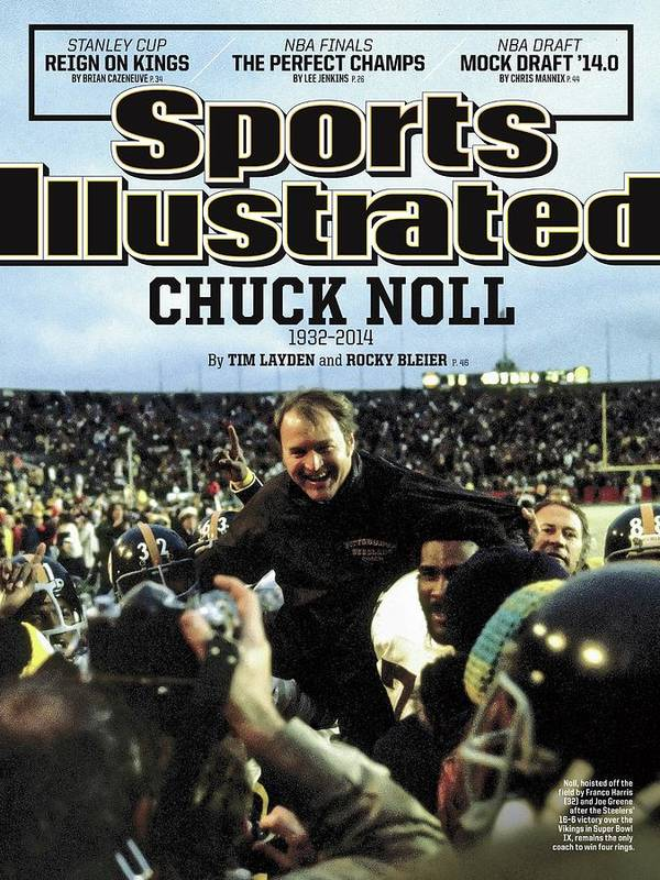 Magazine Cover Art Print featuring the photograph Chuck Noll 1932 - 2014 Sports Illustrated Cover by Sports Illustrated