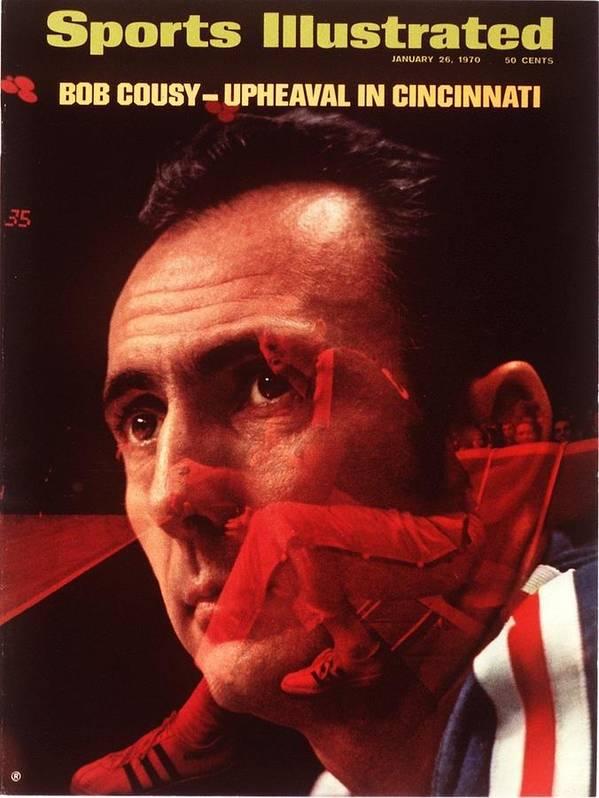 Magazine Cover Art Print featuring the photograph Cincinnati Royals Coach Bob Cousy Sports Illustrated Cover by Sports Illustrated