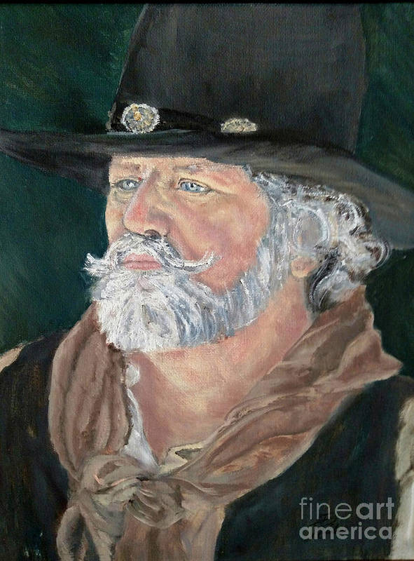 Cowboy Art Print featuring the painting Concho by CJ Rider