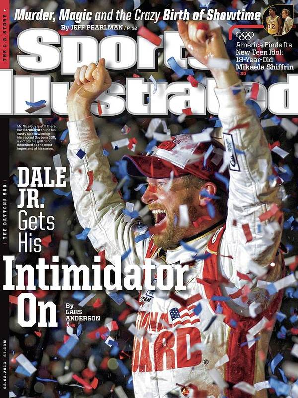 Magazine Cover Art Print featuring the photograph Dale Jr. Gets His Intimidator On Sports Illustrated Cover by Sports Illustrated