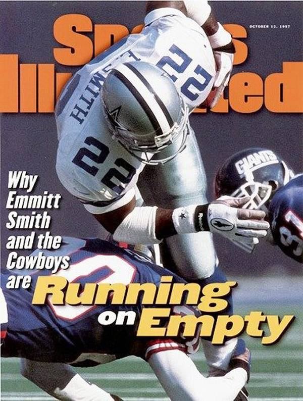 Magazine Cover Art Print featuring the photograph Dallas Cowboys Emmitt Smith... Sports Illustrated Cover by Sports Illustrated
