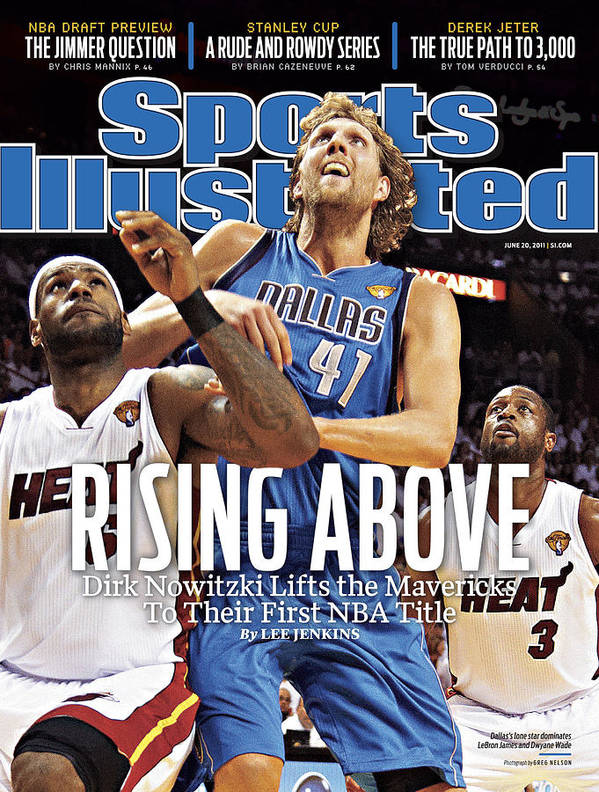 Playoffs Art Print featuring the photograph Dallas Mavericks V Miami Heat - Game Six Sports Illustrated Cover by Sports Illustrated