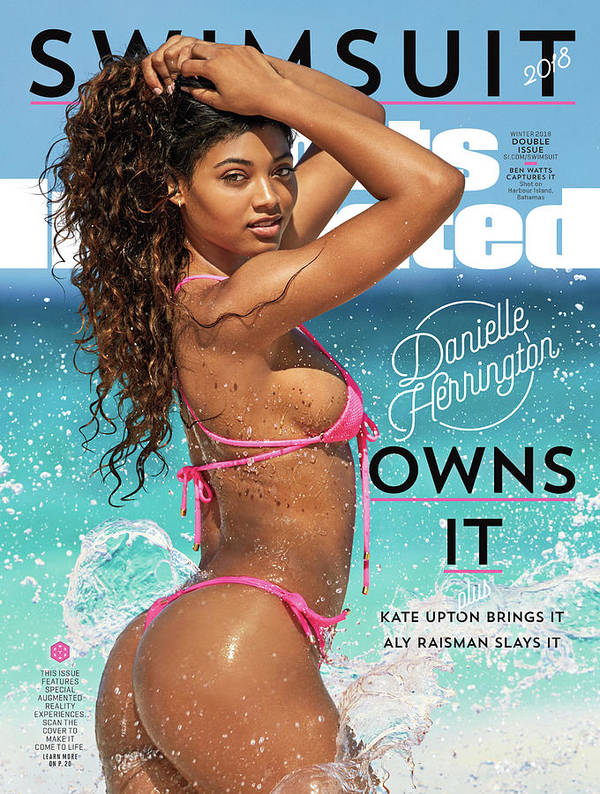 Three Quarter Length Art Print featuring the photograph Danielle Herrington Swimsuit 2018 Sports Illustrated Cover by Sports Illustrated