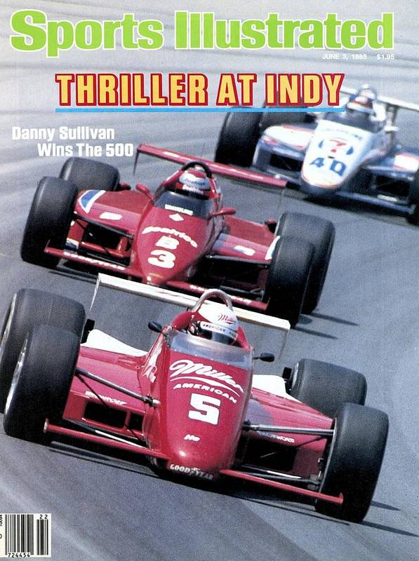 1980-1989 Art Print featuring the photograph Danny Sullivan, 1985 Indy 500 Sports Illustrated Cover by Sports Illustrated