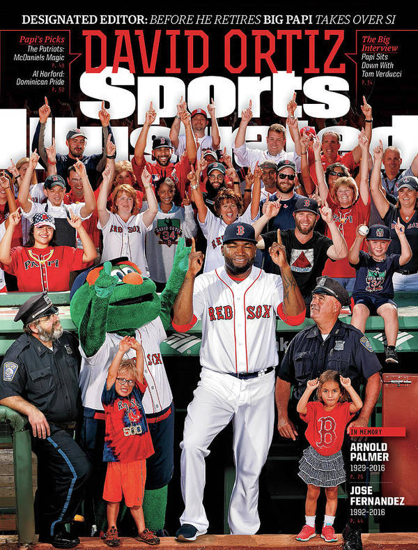 Magazine Cover Art Print featuring the photograph David Ortiz, Designated Editor Before He Retires Big Papi Sports Illustrated Cover by Sports Illustrated