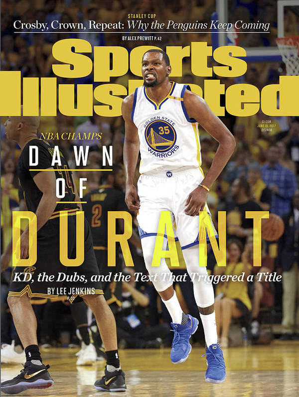 Playoffs Art Print featuring the photograph Dawn Of Durant Kd, The Dubs, And The Text That Triggered A Sports Illustrated Cover by Sports Illustrated