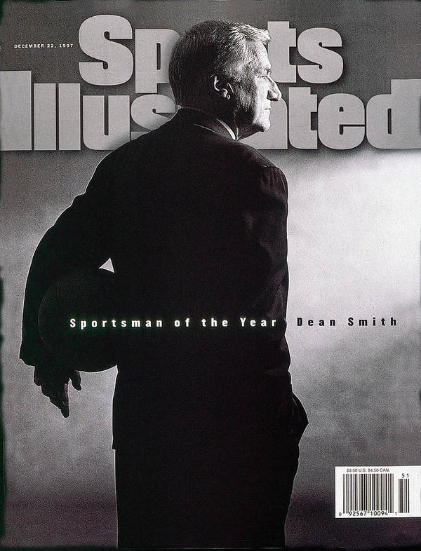 North Carolina Art Print featuring the photograph Dean Smith 1997 Sportsman Of The Year Sports Illustrated Cover by Sports Illustrated