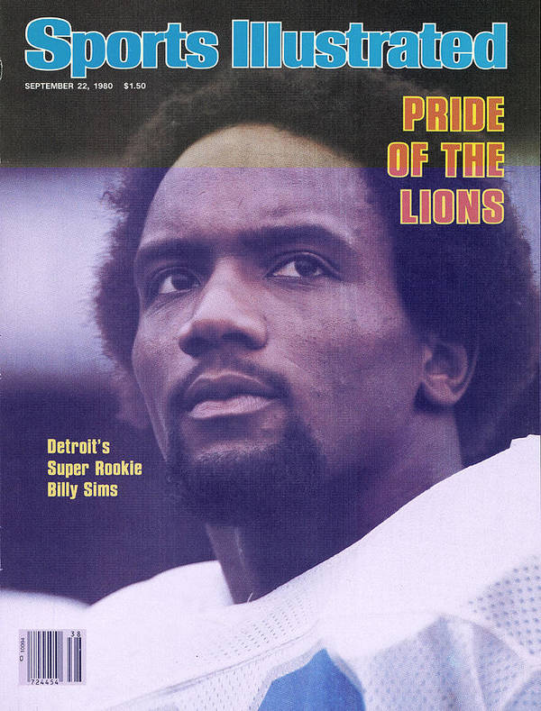 Green Bay Art Print featuring the photograph Detroit Lions Billy Sims Sports Illustrated Cover by Sports Illustrated