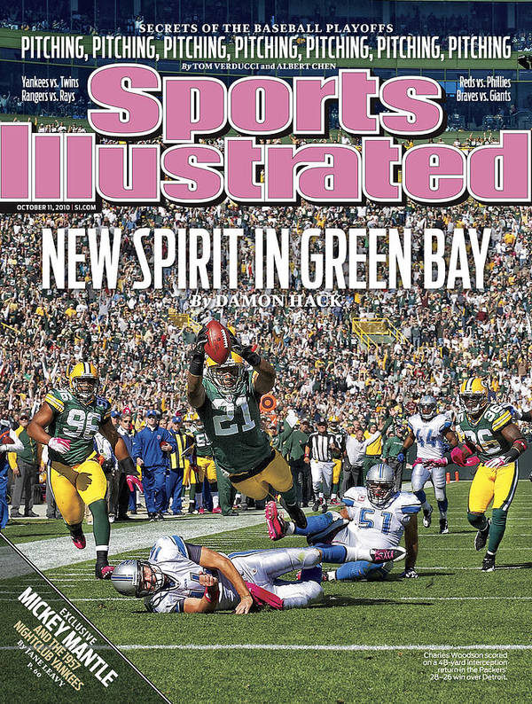 Green Bay Art Print featuring the photograph Detroit Lions V Green Bay Packers Sports Illustrated Cover by Sports Illustrated