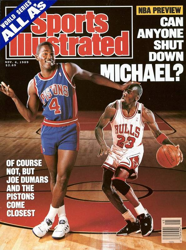 Magazine Cover Art Print featuring the photograph Detroit Pistons Joe Dumars, 1989 Nba Basketball Preview Sports Illustrated Cover by Sports Illustrated