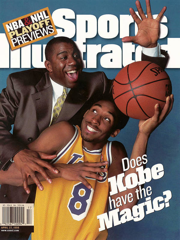 Magazine Cover Art Print featuring the photograph Does Kobe Have The Magic Sports Illustrated Cover by Sports Illustrated