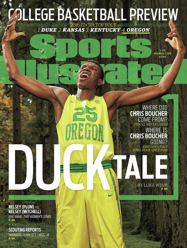 Magazine Cover Art Print featuring the photograph Duck Tale 2016-17 College Basketball Preview Issue Sports Illustrated Cover by Sports Illustrated