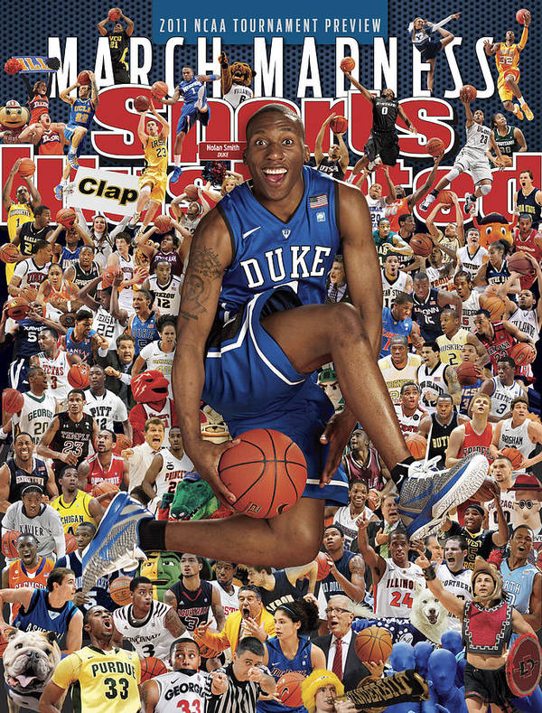 North Carolina Art Print featuring the photograph Duke University Nolan Smith, 2011 March Madness College Sports Illustrated Cover by Sports Illustrated