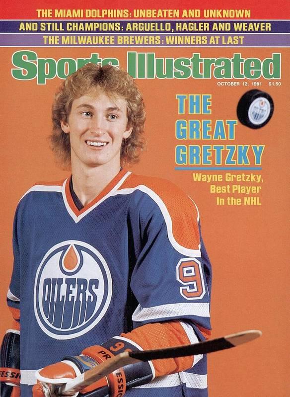 Magazine Cover Art Print featuring the photograph Edmonton Oilers Wayne Gretzky Sports Illustrated Cover by Sports Illustrated