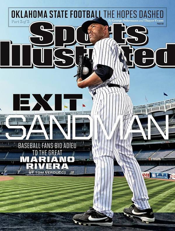 Magazine Cover Art Print featuring the photograph Exit Sandman Baseball Fans Bid Adieu To The Great Mariano Sports Illustrated Cover by Sports Illustrated