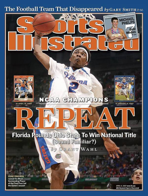 Atlanta Art Print featuring the photograph Florida Corey Brewer, 2007 Ncaa National Championship Sports Illustrated Cover by Sports Illustrated