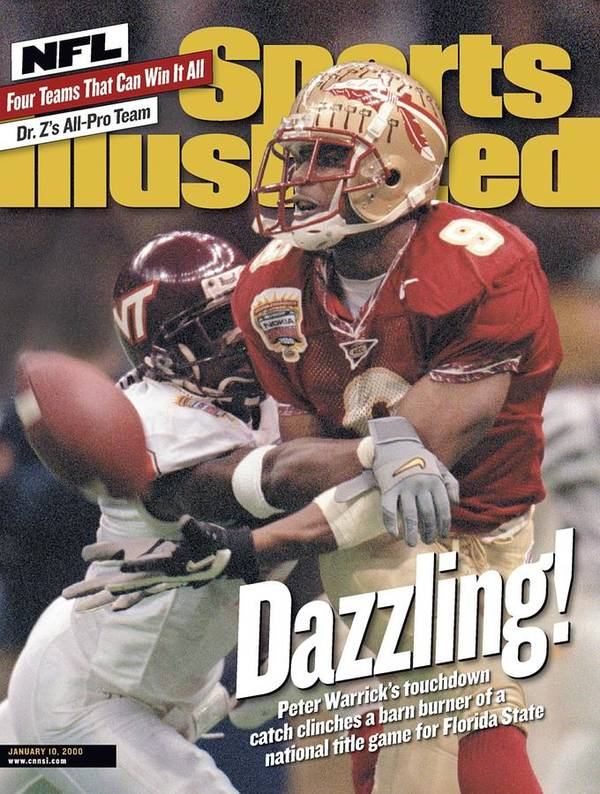 Magazine Cover Art Print featuring the photograph Florida State University Peter Warrick, 2000 Nokia Sugar Sports Illustrated Cover by Sports Illustrated