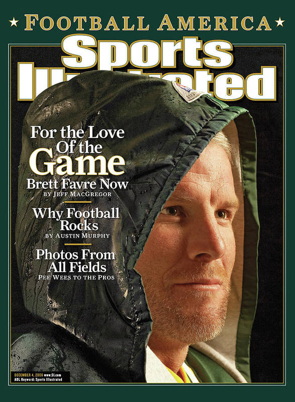 Green Bay Art Print featuring the photograph For The Love Of The Game Brett Favre Now Sports Illustrated Cover by Sports Illustrated