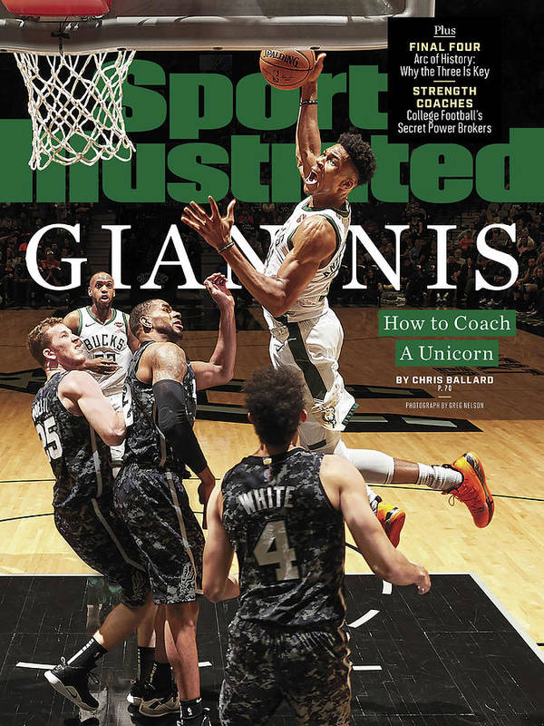 Magazine Cover Art Print featuring the photograph Giannis How To Coach A Unicorn Sports Illustrated Cover by Sports Illustrated
