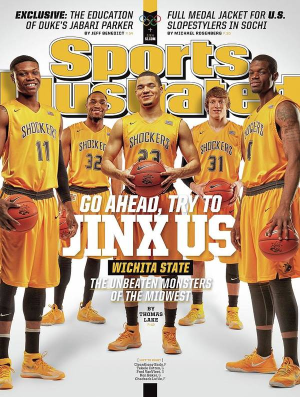 Magazine Cover Art Print featuring the photograph Go Ahead, Try To Jinx Us. Wichita State The Unbeaten Sports Illustrated Cover by Sports Illustrated