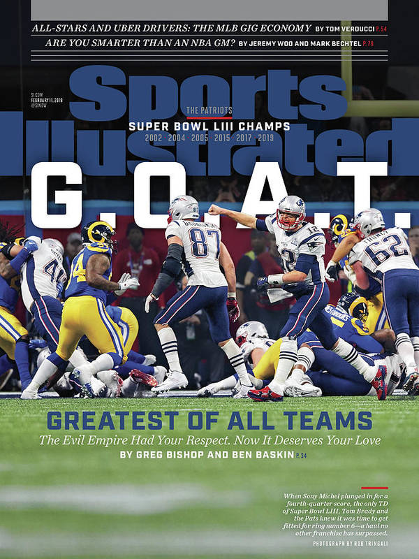 Atlanta Art Print featuring the photograph G.o.a.t Greatest Of All Teams Sports Illustrated Cover by Sports Illustrated