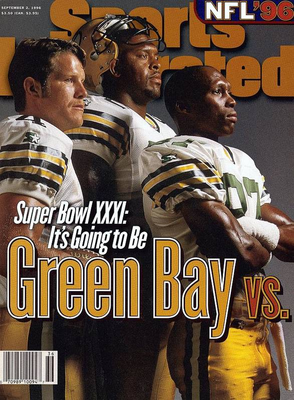 Green Bay Art Print featuring the photograph Green Bay Packers, 1996 Nfl Football Preview Issue Sports Illustrated Cover by Sports Illustrated