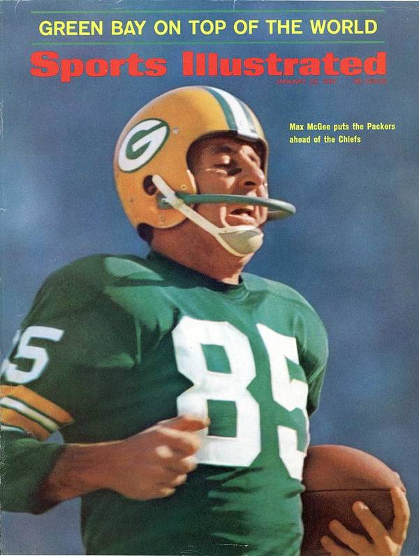 Sports Illustrated Art Print featuring the photograph Green Bay Packers Max Mcgee, Super Bowl I Sports Illustrated Cover by Sports Illustrated